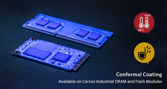 conformal coating now available for Cervoz flash and DRAM modules